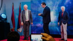 A. Felder, CEO Zumtobel Group, A. Vučić, predsednik Republike Srbije, J. Zumtobel, predsednik Nadzornog odbora
